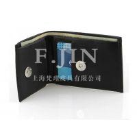 厂家订制创意仿皮钱包 男士短款钱包 商务休闲票夹 上海工厂定做