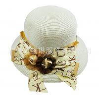 供应夏威夷风情海边草帽大檐帽 防晒大草帽 太阳帽 多色可选