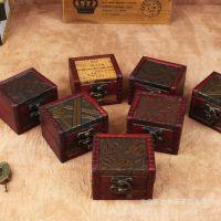 迷你仿古小方盒 欧式复古木制收纳 纯手工做旧拍摄道具 特价批发