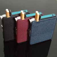 ***龙光20支装自动烟盒 创意防风打火机三色磨砂精品礼品烟盒