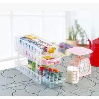 日本SANADA单层抽屉式冰箱调料整理盒文具收纳盒可叠加