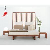 成都中式家具-中式实木床 雕花床 卧室床 实木床 仿古床 雕花床 酒店床 会所床定制