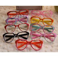 新款 双色 儿童镜框  眼镜 框架 无镜片 批发 LM-012