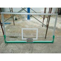 深圳篮球板更换 康腾钢化玻璃篮板 户外透明篮球板