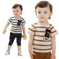 男童套装夏季款韩国外贸全棉可爱熊儿童短袖T恤原单品牌童装批发