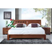 实木床 胡桃木床 现代简约 纯实木家具 装饰家具 时尚床 简约床 欧式床 定制床