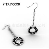 纯银耳环加工生产 钨钢饰品设计加工定做 耳环 品 ***保健饰品