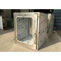 800型 大拉手不锈钢 新合页传递箱 传递柜 机械锁百级