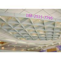 板材三角形铝格栅天花吊顶,防火三角形铝格栅