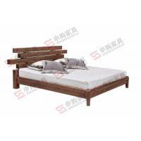 TA06床|黑胡桃实木家具|质优价廉