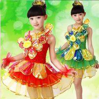 六一儿童演出服亮片女童公主纱裙幼儿舞蹈服装蓬蓬裙现代舞表演服