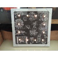 灯画 帆布框画 高档圣诞节发光壁画 家居装饰用品,出口欧美市场