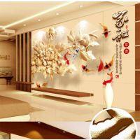 3D效果中式经典木雕电视沙发玄关背景墙酒店会所定制厂家直销