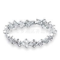 镶钻水晶镂空多层女款电镀白金保色泳漆防氧化防过敏女款女士手链
