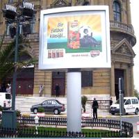 毅龙厂家定制高炮广告牌 制作大型户外广告塔 有面板户外广告牌