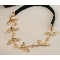 欧美时尚英伦风明星同款橄榄枝树叶装饰发带发饰头饰 厂家CZ90044