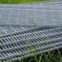 普通型沟盖板无锡踏步板@机器焊接承载力强扁钢镀锌钢格栅@河北安平下水道钢格板计算公式