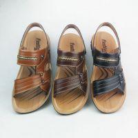 低价鞋批发2016新款温州驰迈狼品牌男士休闲真皮沙滩鞋凉鞋