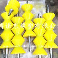 山东淄博厂家直销聚氨脂橡胶三槽滚轮材质耐磨聚氨酯PU