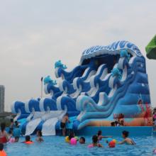 大型成年人/儿童水上乐园充气水滑梯 水上滑梯价格/心悦pvc冲气滑梯配套支架水池游泳池乐园