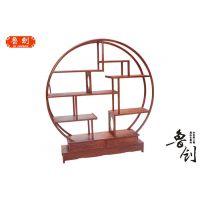 圆形博古架厂家直销红木家具图片、明清家具价格、东阳木雕款式图