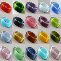 *** 猫眼石手镯 加宽时尚多色可选纯天然水晶18mm