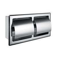 洗手间防水厕纸箱 304不锈钢暗装双卷卫生纸箱 佳悦鑫纸巾盒