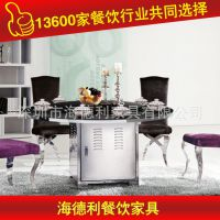 热卖 大理石时尚简约现代家居餐台 家用客厅吃饭火锅桌椅 可定做
