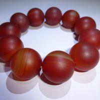 百红 特价批发红玛瑙大珠手链 个个晶莹剔透 纹路清晰红润