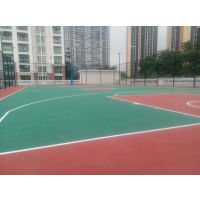 中山村级篮球场施工 红绿色篮球场地胶制作 丙烯酸篮球场铺设包划线