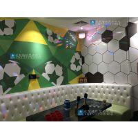KTV装修墙纸效果 酒吧包房大型3D壁画 背景墙足球主题墙纸壁画海星