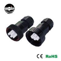 686A压接式防水连接器 4芯/4p防水公母对接插头 电源连接器