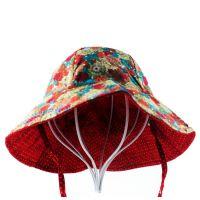 韩国韩版新款渔夫帽女士双面盆帽 男女式菊花图夏季户外钓鱼帽