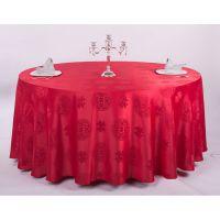 高档餐厅涤纶桌布提花