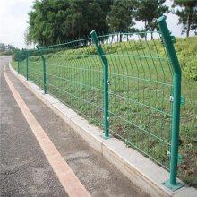 植物园防护隔离网 钢丝喷塑护栏网 双边铁丝护栏网报价