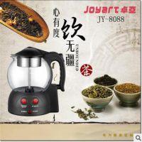 供应卓亚JY-8088煮茶器玻璃保温电水壶电茶壶煮黑茶蒸汽泡玻璃茶