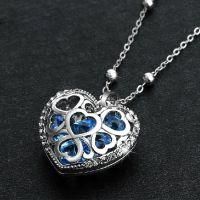 心形吊坠 镶嵌锆石水晶 超闪夺目 夏季必备饰品 厂家可以定做饰
