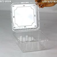 长方形透明PET塑料水果盒 加厚保鲜盒 蔬菜盒子1000个带孔盖批发