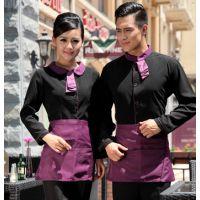 2哦4新款酒店工作服秋冬装女 西餐厅服务员制服 男饭店长袖服装