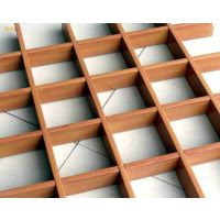 室內鋁合金木紋格柵吊顶|木纹格栅鋁天花厂家|廣州歐佰天花