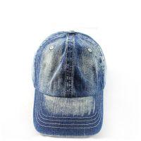厂家定制做春夏新款牛仔布帽子洗水做旧瓜皮帽韩版磨边鸭舌棒球帽