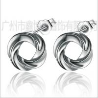 高端925纯银饰品 韩版时尚耳钉 女式简约耳环 广州XBH厂家定制