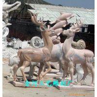 梅花鹿、三羊开泰、曲阳石雕厂、雕塑工程公司
