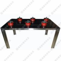 厂价热卖 时尚火锅桌 高级酒店/茶位火锅桌 6人位钢化玻璃火锅桌