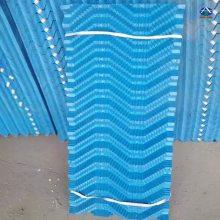 河北华强生产方形逆流冷却塔散热片 凉水塔斜波纹填料 500x100片距35的