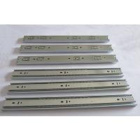板式家具钢珠滑轨抽屉常规冷轧钢板道轨全抽出三节导轨45mm宽滑道