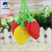 创意礼品赠品草莓硅胶茶漏 草莓硅胶泡茶器