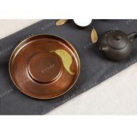 宸艺华专业生产紫铜鎏金一叶壶承