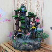 开业礼品假山流水鱼缸盆景喷泉家居装饰工艺品摆设风水轮招财摆件
