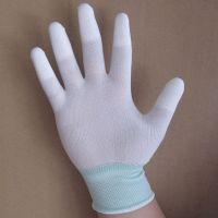 江苏厂家热销pu涂指手套 13针尼龙手套
